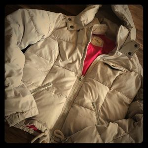 Off white hollister coat size small